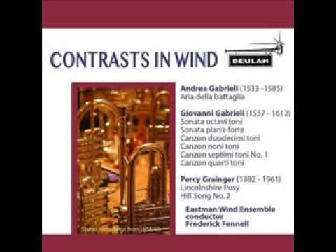 Lincolnshire Posy  Percy Aldridge Grainger, Eastman Wind Ensemble