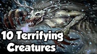 10 Terrifying Mythological Creatures From Around The World! (Mythology Explained)