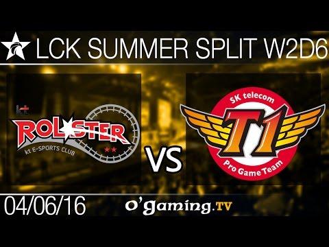 KT Rolster vs SKT T1 - LCK Summer Split 2016 - W2D6
