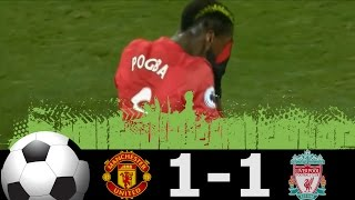 Manchester United vs Liverpool 1-1 Extended Highlights Premier League 15/01/2017 HD