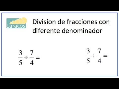 Division De Fracciones Con Diferente Denominador Ejemplo 1