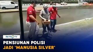 Pensiunan Polisi Jadi 'Manusia Silver' di Semarang