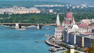 Будапешт! Красивый вид с горы Геллерт. Венгрия