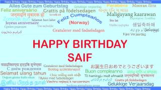 Saif   Languages Idiomas - Happy Birthday