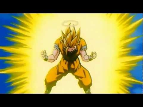 Goku Turns Into A Super Saiyan 3 For The First Time [HD]