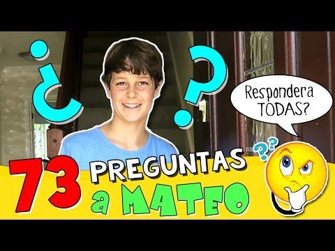 ⁉️ 73 PREGUNTAS a MATEO HAACK * TAG 😝 ¿Te has ENAMORADO alguna vez? 💖 ¿Tu Youtuber FAVORITO? 😝