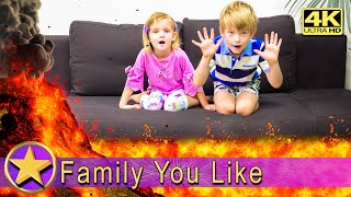 The Floor is Lava with Family You Like – Пол это Лава – 4K