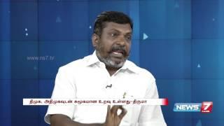 Thol. Thitumavalavan answering special Kelvi Neram | News 7 Tamil