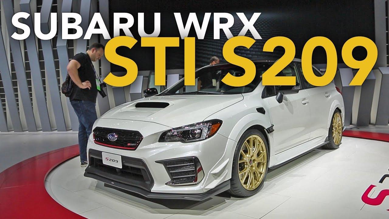 fa9a347eb8602e Subaru WRX STI S209 First Look - 2019 Detroit Auto Show - YouTube
