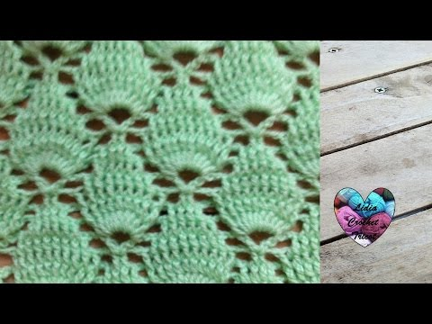 Crochet : Point feuille en relief / Crochet punto fantasia
