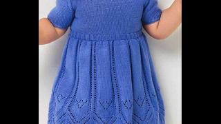 МК Детское платье спицами 3 часть