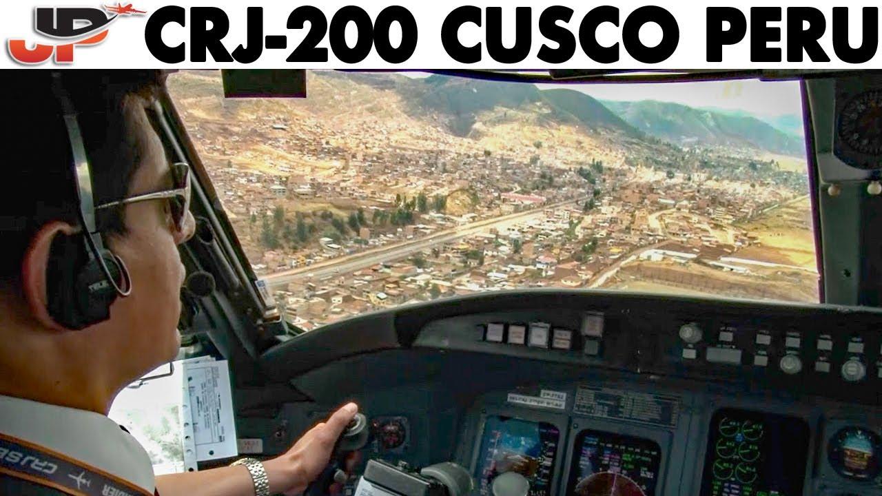 Piloting CRJ-200 to Cusco Peru | Cockpit Views