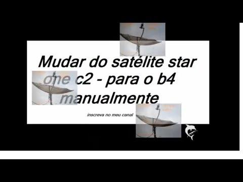 localizar o satélite B4 a partir do satélite C2- antena 1.60m