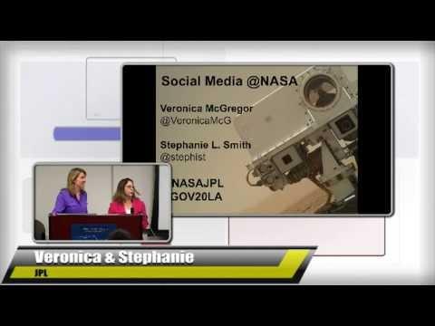Veronica McGregor, Stephanie L. Smith @NASAJPL present at Gov 2.0 L.A. 2013