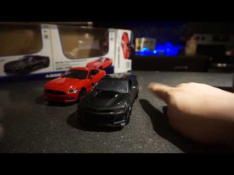 Maisto Assembly line  UNBOXING!! DIECAST  CAMARO ZL1 and Mustang GT
