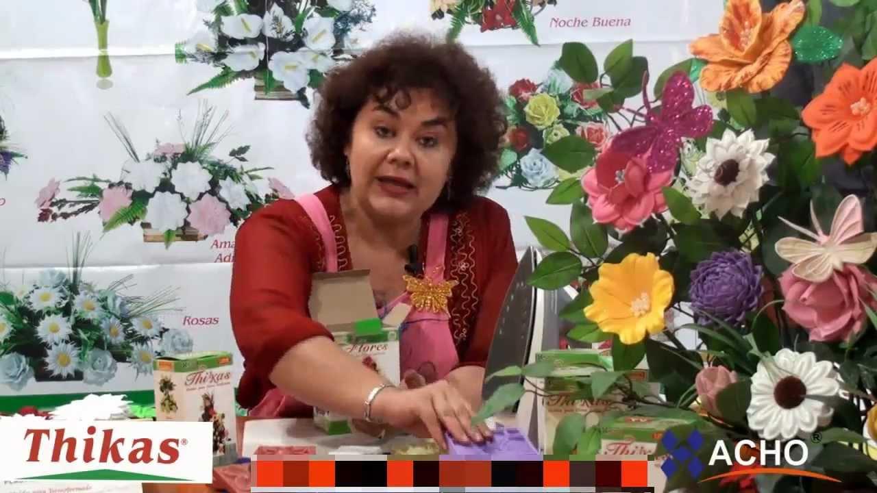 Medianas Moldes De Flores Para Hacer Arreglos Florales En Fomi Goma Eva Hd