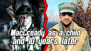 Fallout 4 - MacCready as a child in Fallout 3 and 10 years later in Fallout 4