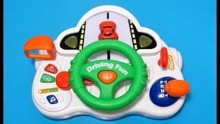 Музыкальный Детский Руль Baby Steer Driving Fun Обзор Игрушки Musical Steering Wheel Review Toy