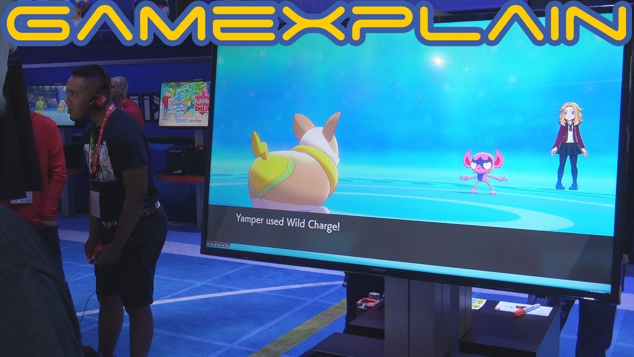 Pokemon Sword And Shield Water Gym E3 2019 Gameplay Youtube