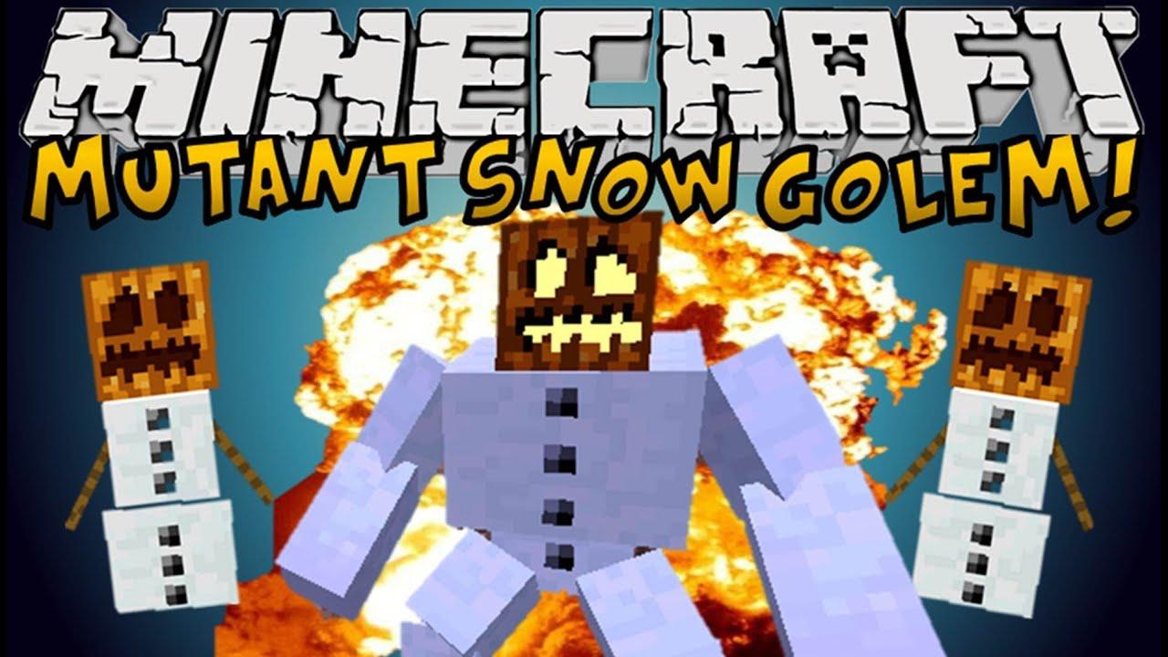 Minecraft Mods Mutant Snow Golem Mutant Creatures Mod