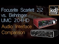 Focusrite Scarlett 2i2 Vs Behringer UMC204HD Audio Interface Comparison mp3
