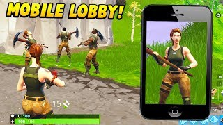 I glitched into a MOBILE LOBBY and pretended to be a NOOB.. (Fortnite Battle Royale)