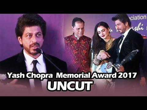 Yash Chopra Memorial Award 2017 | FULL HD Video | Shahrukh Khan, Rekha