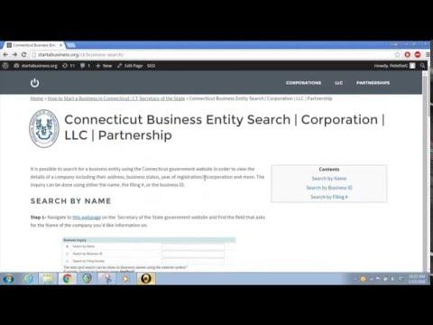 Connecticut Business Entity Search | Corporation | LLC | Partnership