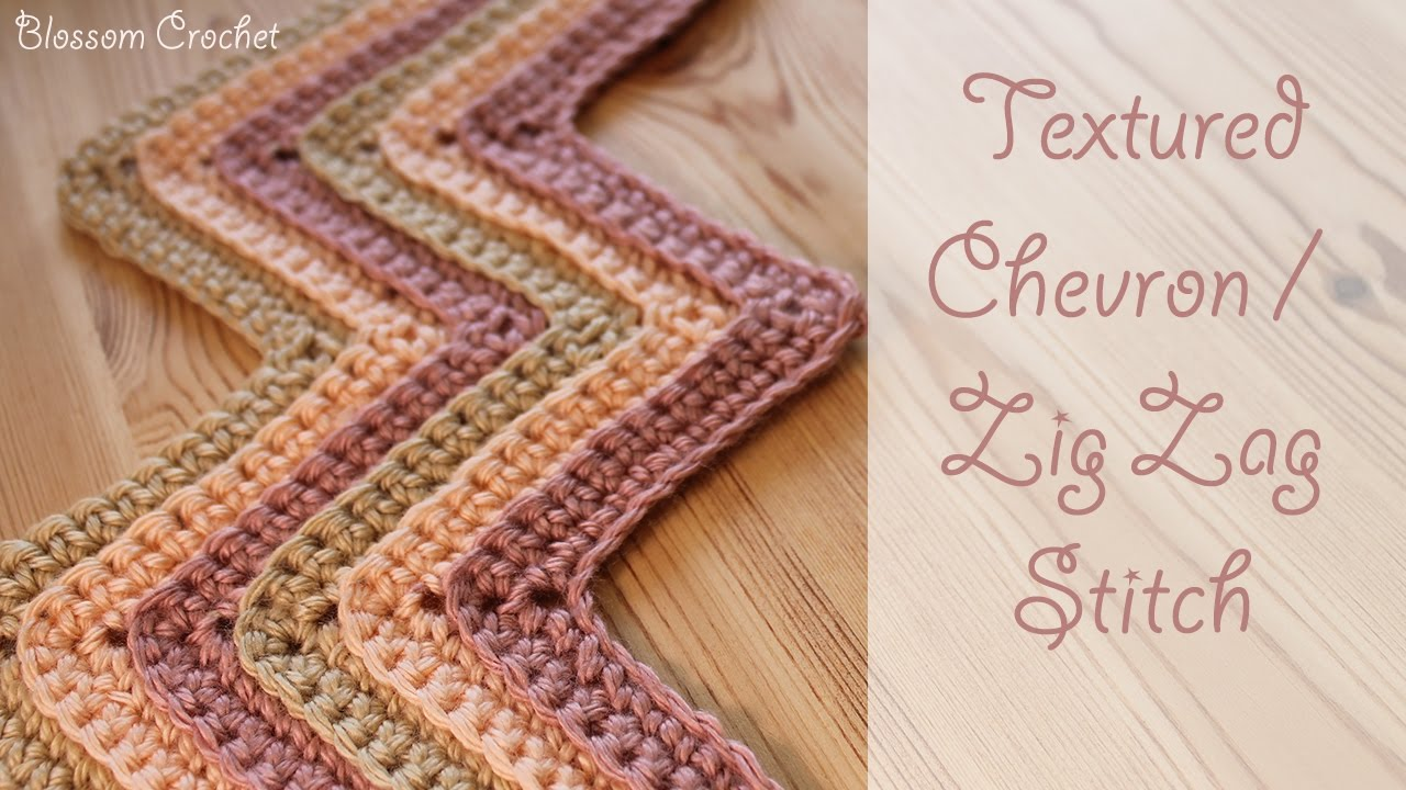 Crochet Textured Chevron Zig Zag Stitch Youtube