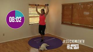 10 Minute Total Body Workout - At Home Strength Training With Dumbbells, Fat Burning, Sculpting