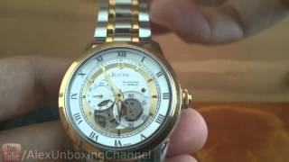 unboxing bulova watch 98a123
