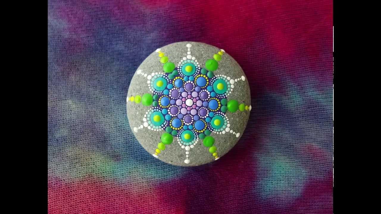 Elspeth McLean- Stop Motion Mandala Stone Painting - YouTube