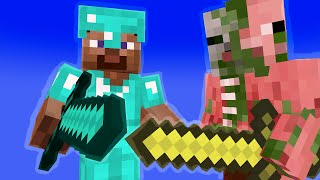 Monster School: Herobrine teaches close combat #1 (minecraft animation)