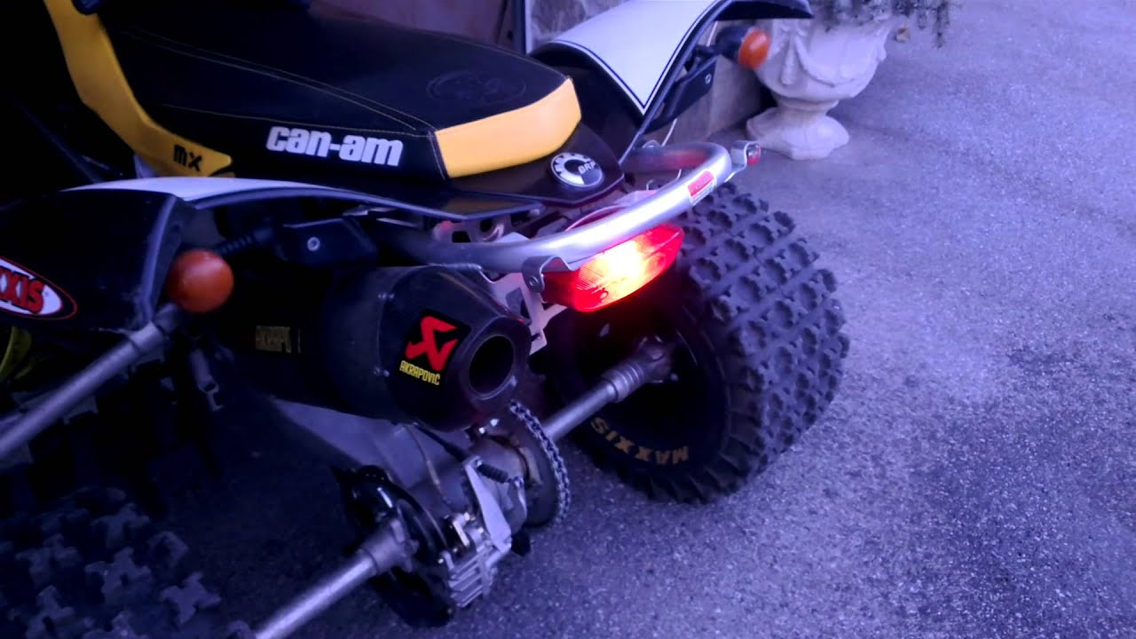 Can Am Outlander 450 >> Can Am DS 450 Xmx Akrapovic Exhaust - YouTube