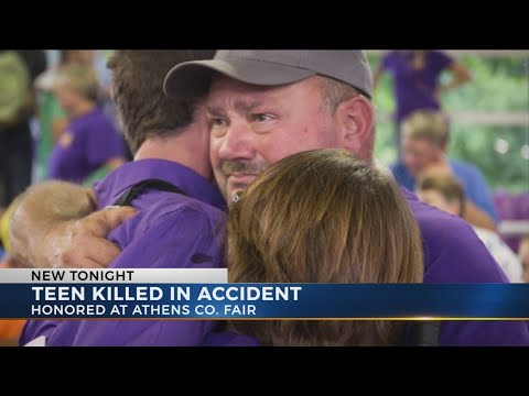 Teen killed in accident, honored at Athens County Fair