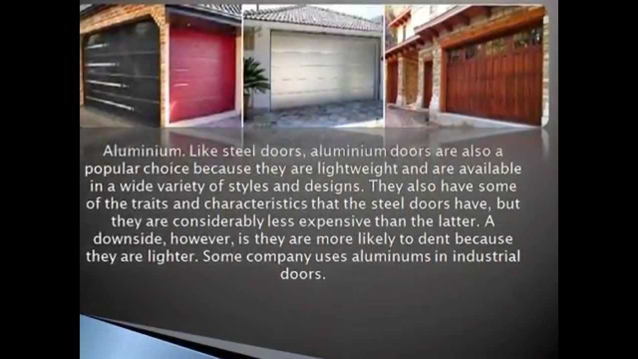 different types of materials used garage doors