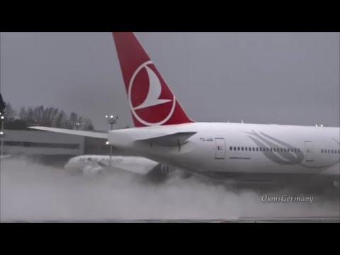 Turkish 777 Bad Weather Flight Test w/ Reject TakeOff @ KPAE Paine Field