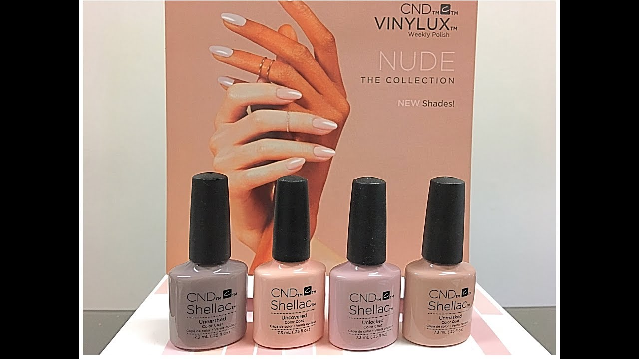 Very Swatching CND Shellac 2018 Nude Collection on my nails!!! - YouTube PD73