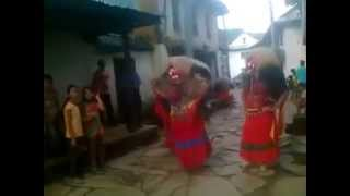 newari dance of lakhey in Chainpur nepal