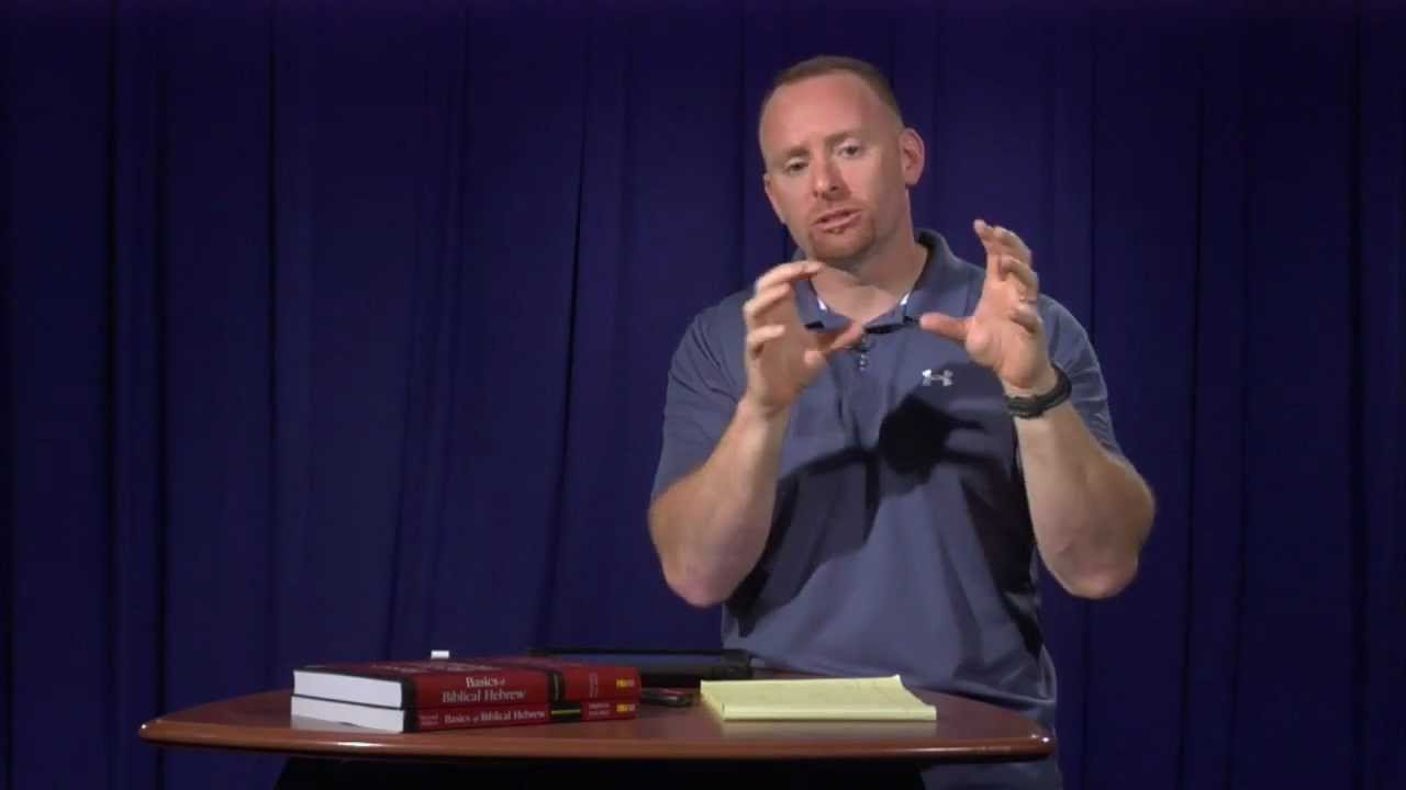 Basics of Biblical Hebrew Video Lectures, Chapter 19 - Pronominal Suffixes  on Verbs in Hebrew