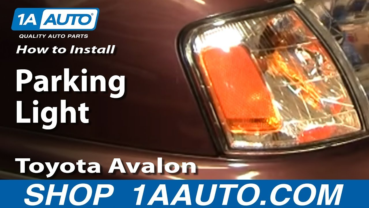 how to replace corner light 98 99 toyota avalon youtube how to replace corner light 98 99 toyota avalon