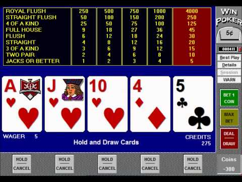 How To Play And Win At Jacks Or Better Video Poker Tutorial - Part 1