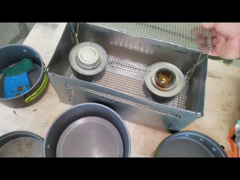 Diy double wood or alcohol burner foldable camp stove for under $10