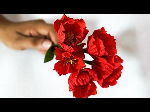 DIY Paper Crafts | Crepe Paper Wedding Bouquet Ideas | HandiWorks #68