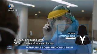 Stirile Kanal D (15.11.2020) - Marturiile sotiei medicului EROU... | Editie de seara