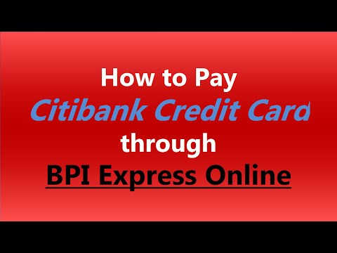 Citi Card Online Payment >> How To Pay Citibank Credit Card Through Bpi Express Online Youtube