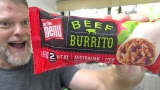 Let's Try the On The Menu Microwave Beef Burrito!