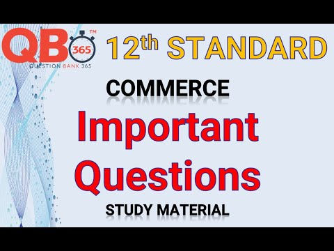 TN   12th Standard Commerce - Important Questions With Answer Key