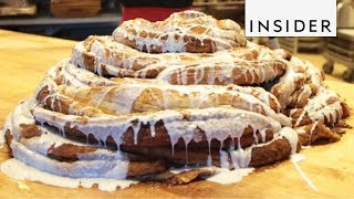 How A 100-Pound Cinnamon Roll Is Made