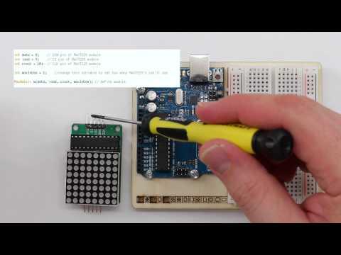 8x8 LED Matrix Display mit MAX7219 am Arduino